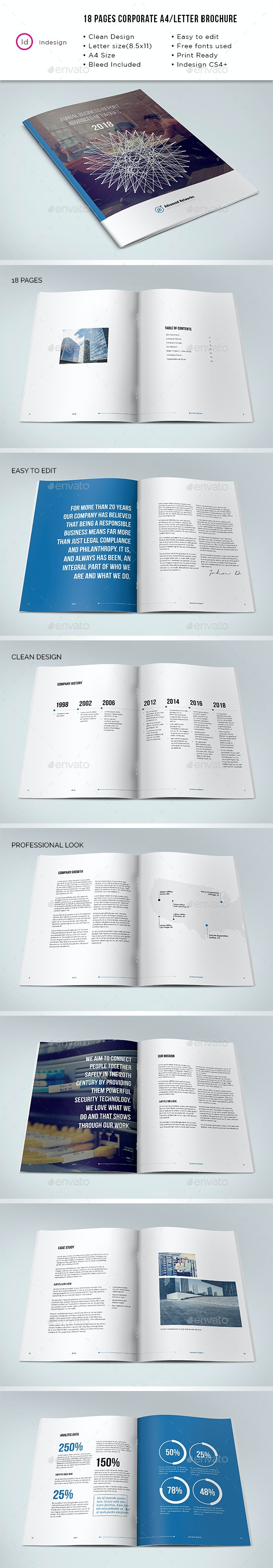 Corporate Report - 18 Pages A4/Letter - Corporate Brochures