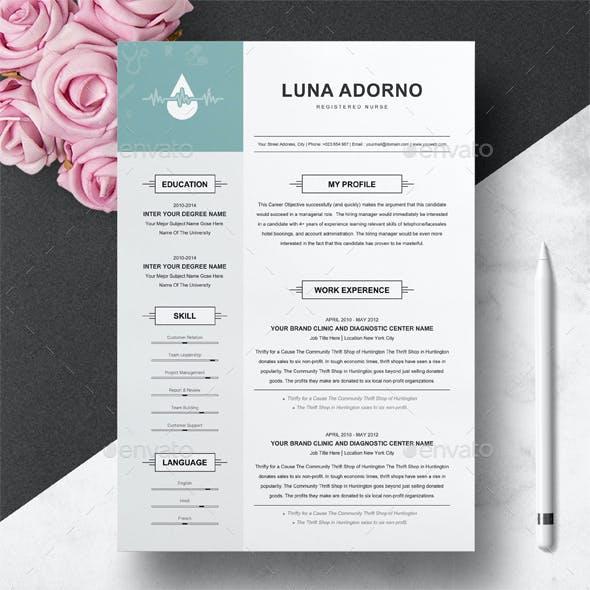 Resume for Nurse \ Medical Resume