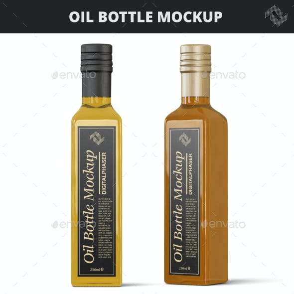 Glass Oil Bottle Mock-Up