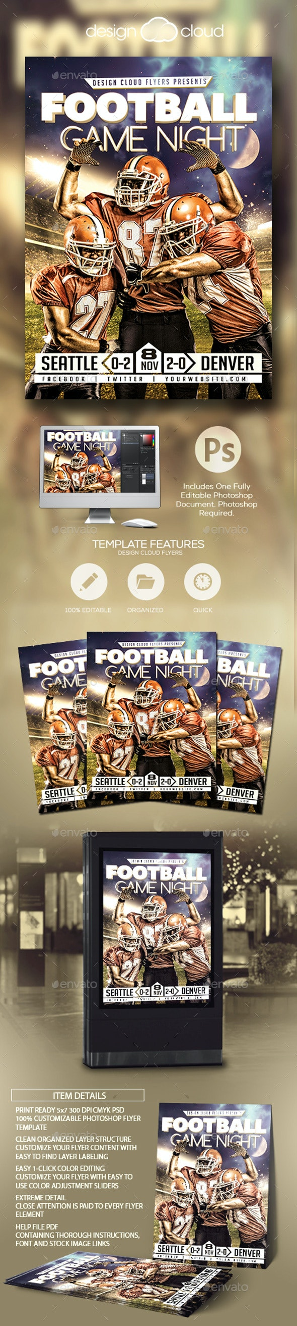 Football Game Night - Sports Events
