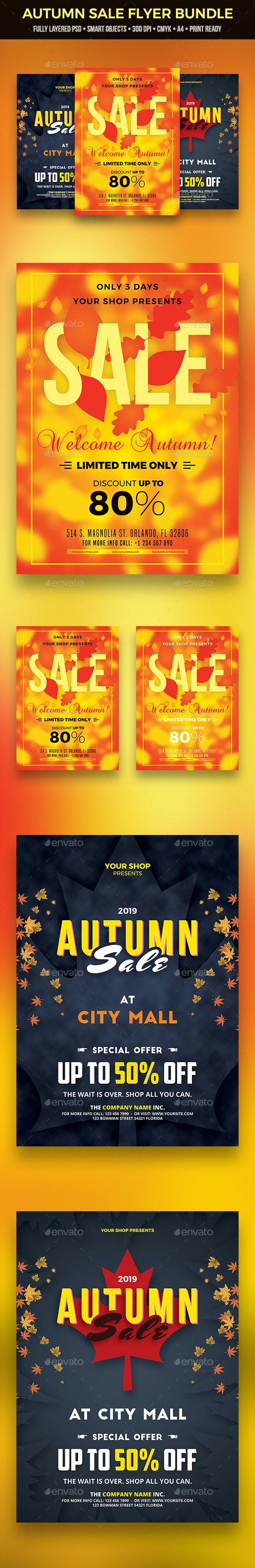 Autumn Sale Flyer Bundle - Commerce Flyers