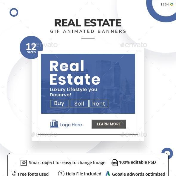 Real Estate Animated Gif Banner Set