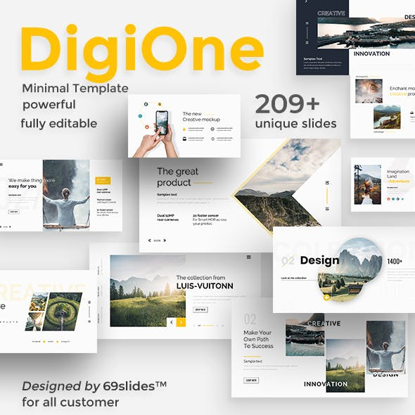 DigiOne Creative Powerpoint Template