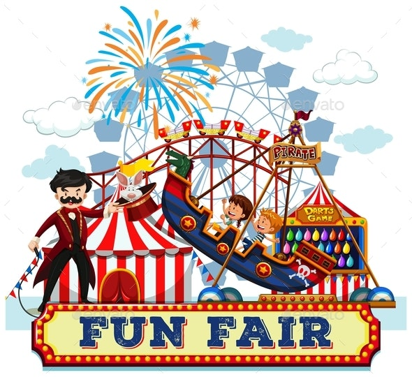 Fun Fair And Rides - People Characters