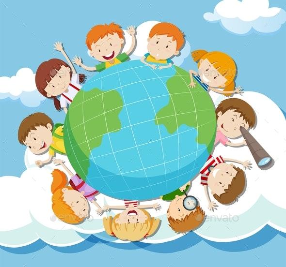 Global Kids On The Sky - People Characters