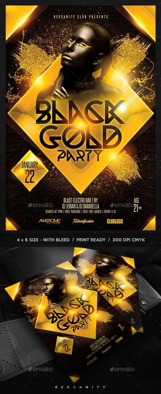 Black Gold Party Flyer