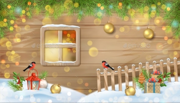Winter Christmas Scene - Christmas Seasons/Holidays