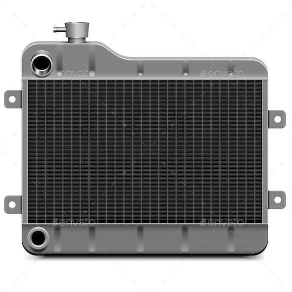 Vector Car Radiator Icon - Industries Business