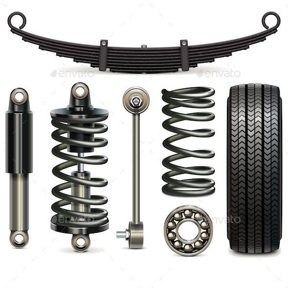 Vector Car Suspension Parts