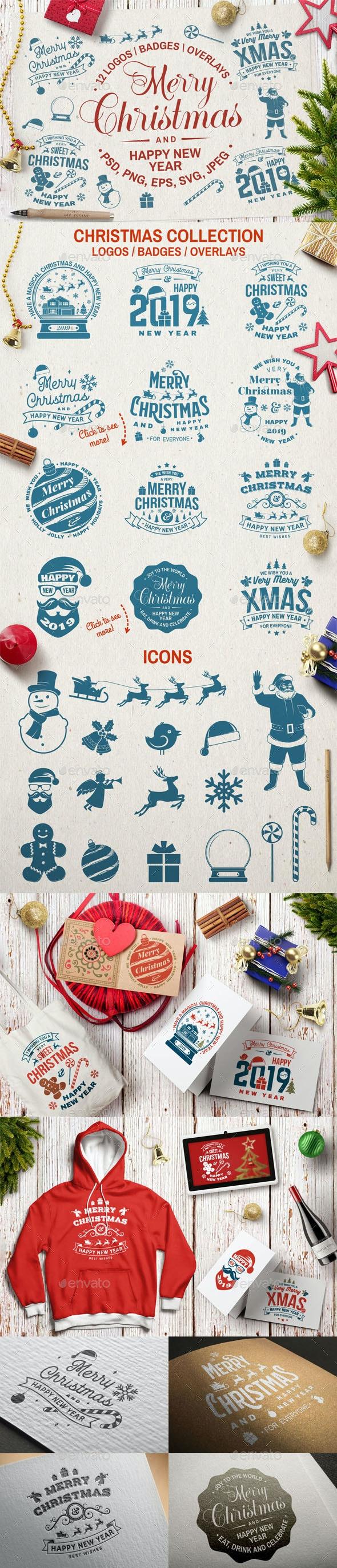 Christmas Overlays - Badges & Stickers Web Elements