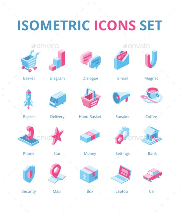 Isometric icons set - Icons