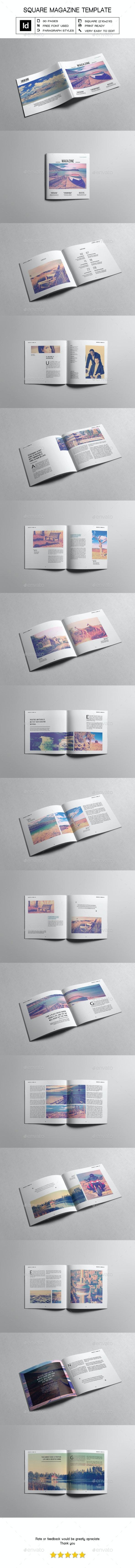 Multipurpose Square Magazine Template II - Magazines Print Templates