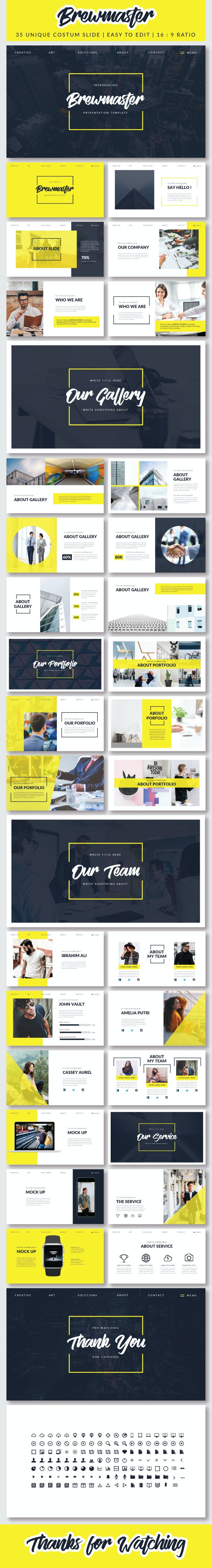 Brewmaster - PowerPoint - Creative PowerPoint Templates