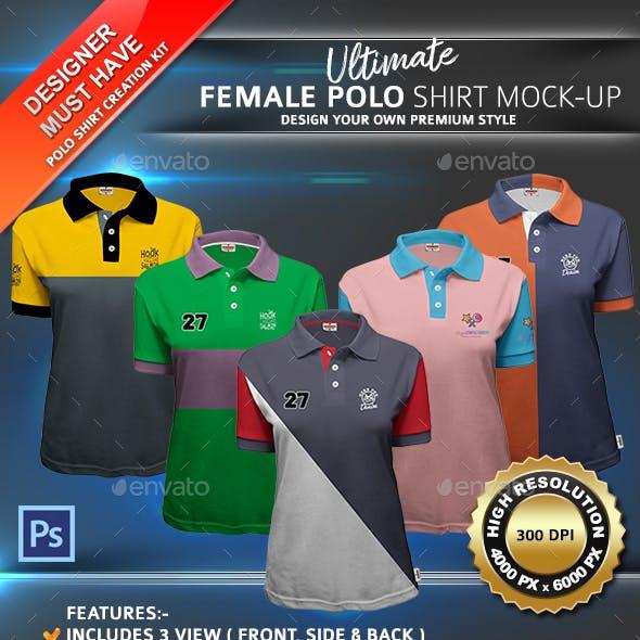 Ultimate Female Polo Shirt Mock-up