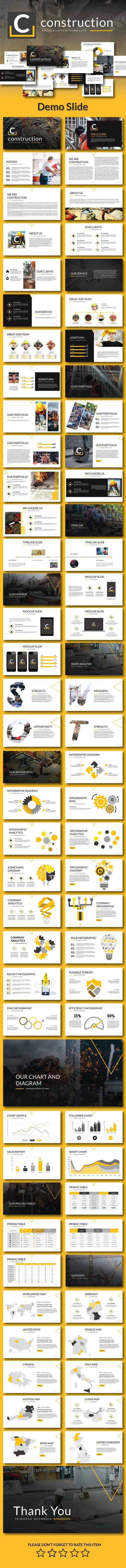 Contruction - Google Slide Template - Google Slides Presentation Templates