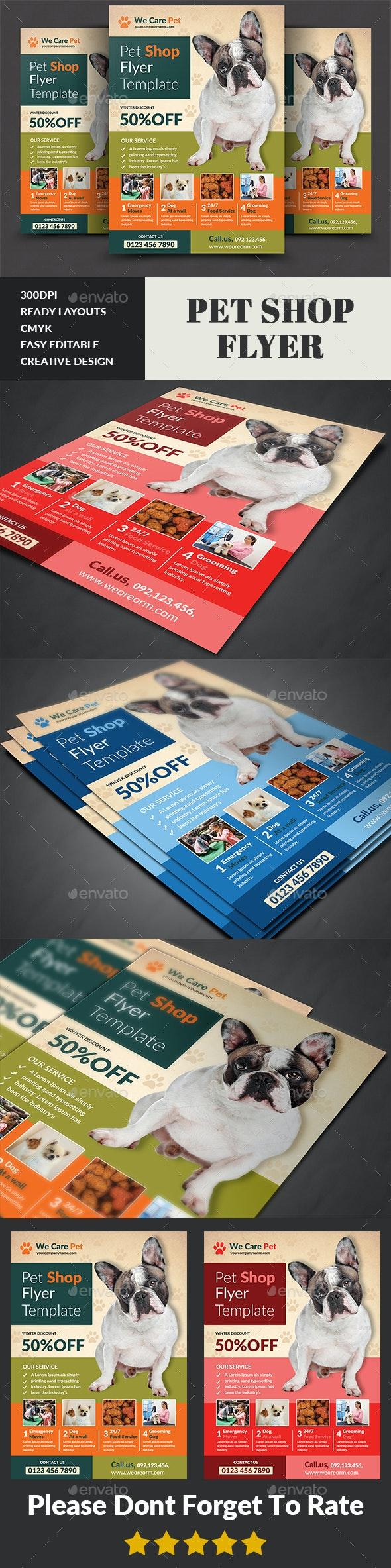 Pet Shop Flyer Template - Corporate Flyers