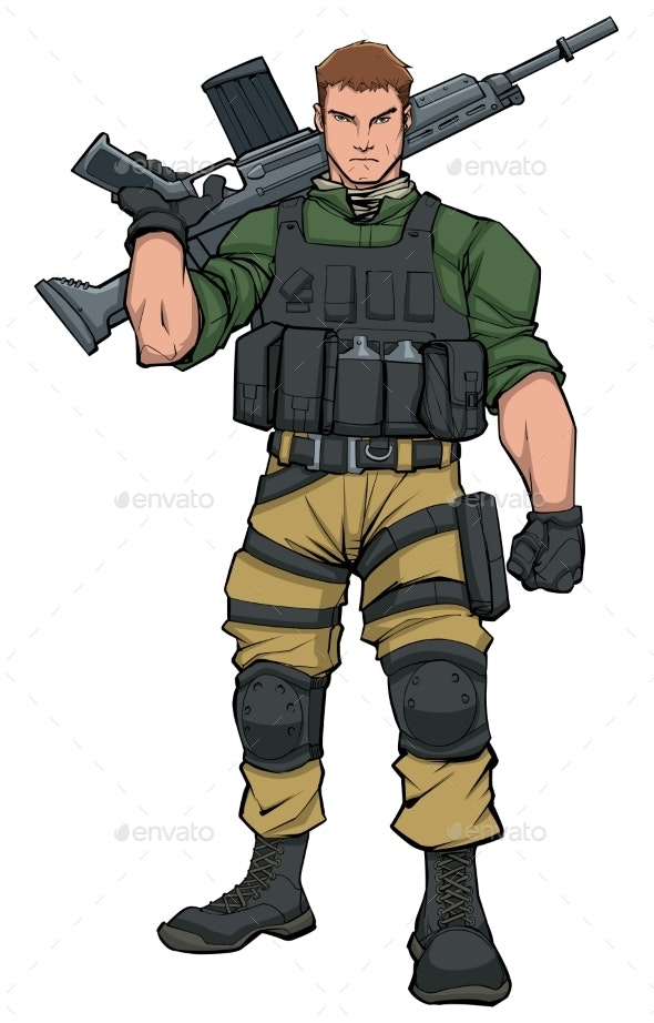 Soldier Standing Tall - People Characters