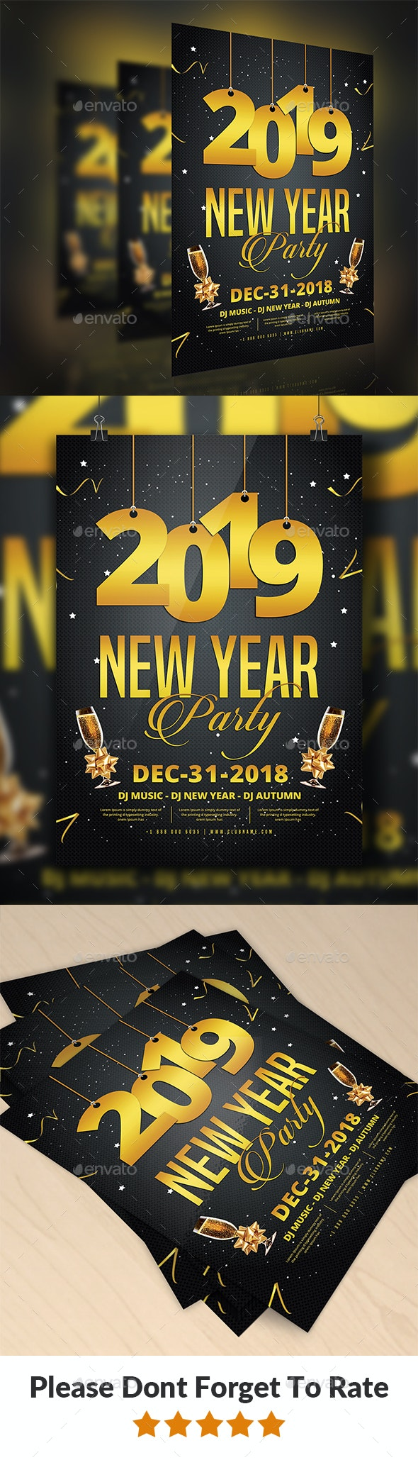 2019 New Year Party Flyer - Events Flyers
