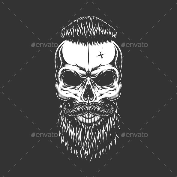 Hipster Skull - Miscellaneous Vectors
