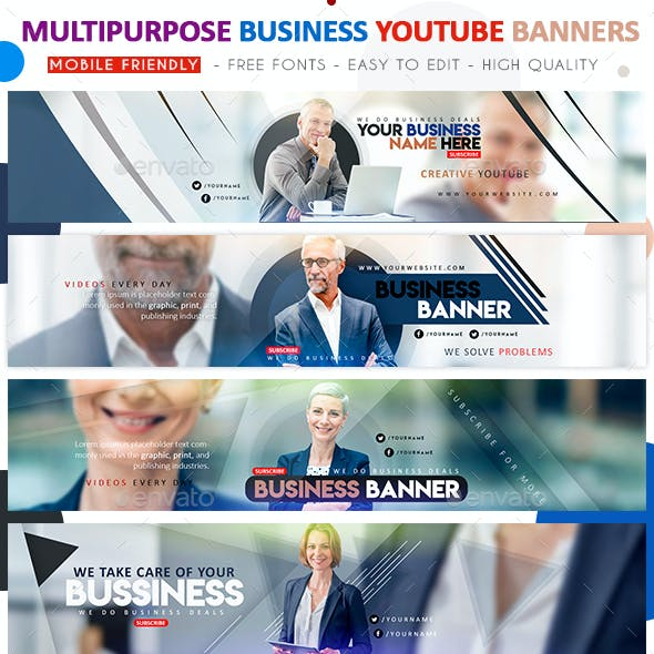 Multipurpose Business YouTube Banners