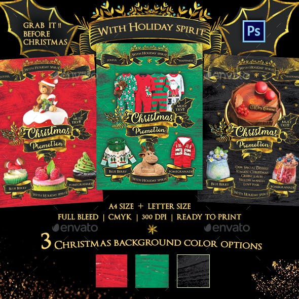 Christmas Promotion Flyer Template