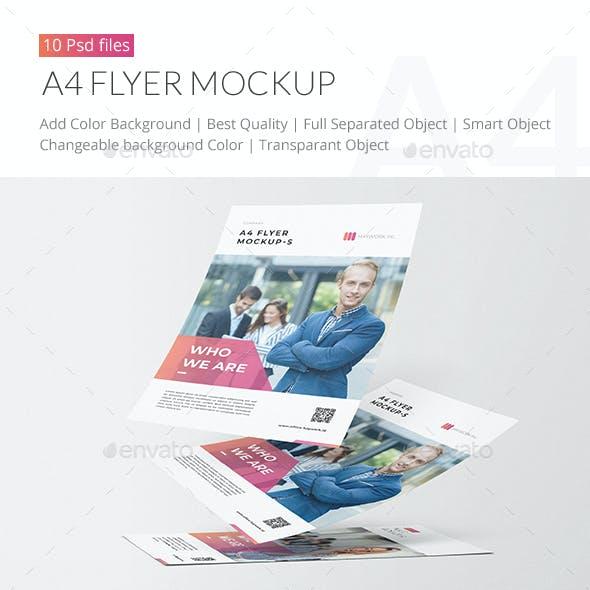 A4 Flyer Mockup Pack