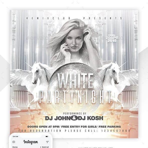 White Party Template