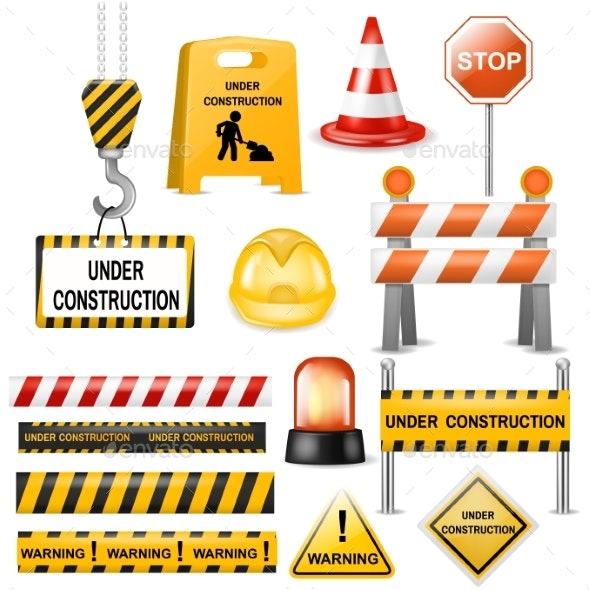 Road Barrier Vector Street Traffic-Barrier Warning - Miscellaneous Vectors