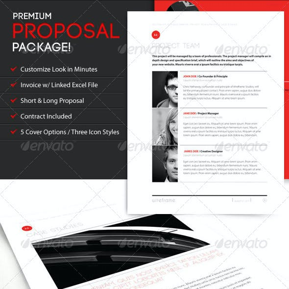 Project Proposal Template Bundle w/ Invoice & Contract
