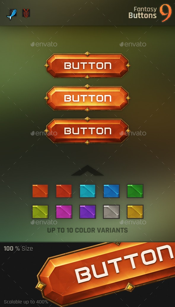 Fantasy Button 9 - Miscellaneous Game Assets