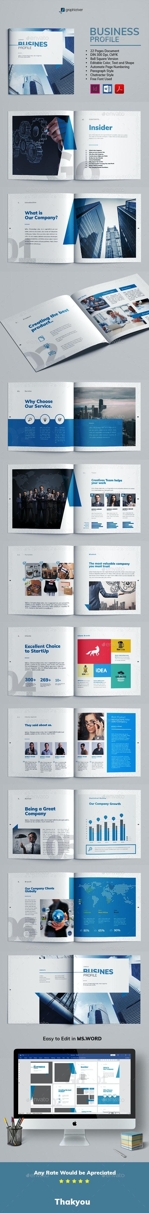 Business Profile - Corporate Brochures