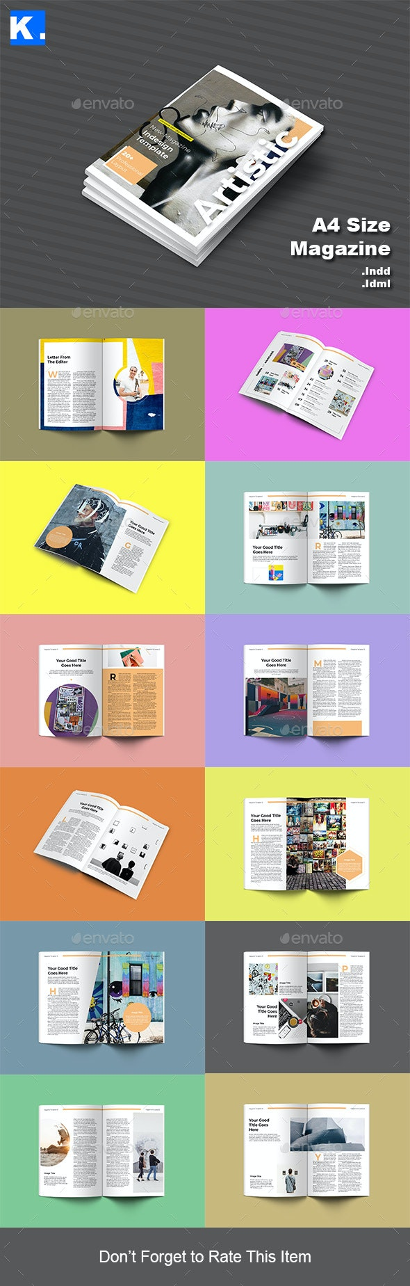 Indesign Magazine Template 13 - Magazines Print Templates