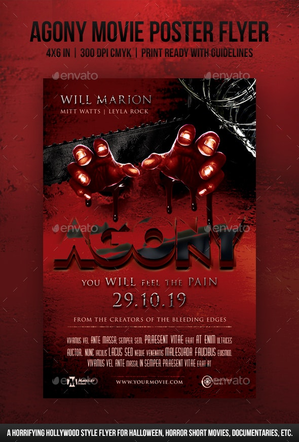 Agony Movie Poster Flyer - Miscellaneous Events