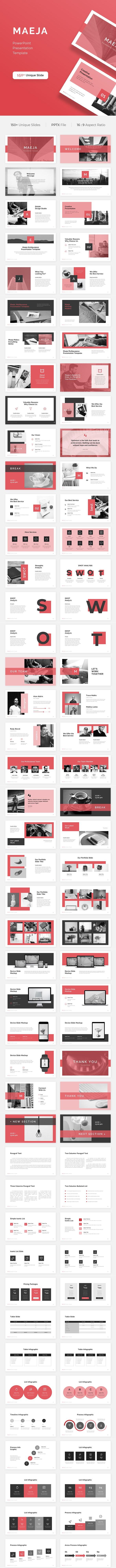 Maeja PowerPoint Presentation Template - Business PowerPoint Templates