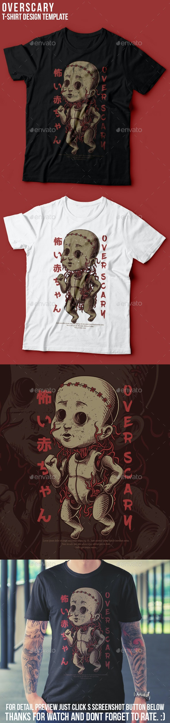 Over Scary T-Shirt Design - Events T-Shirts