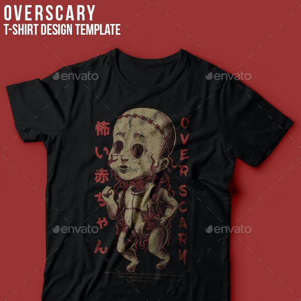 Over Scary T-Shirt Design