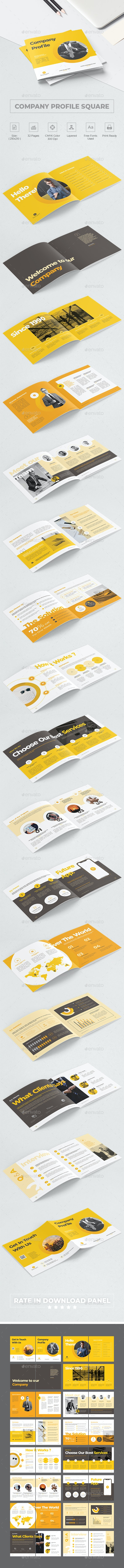 Company Profile Square - Corporate Brochures