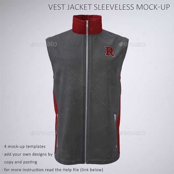Vest or Sleeveless Jacket Mock-Up