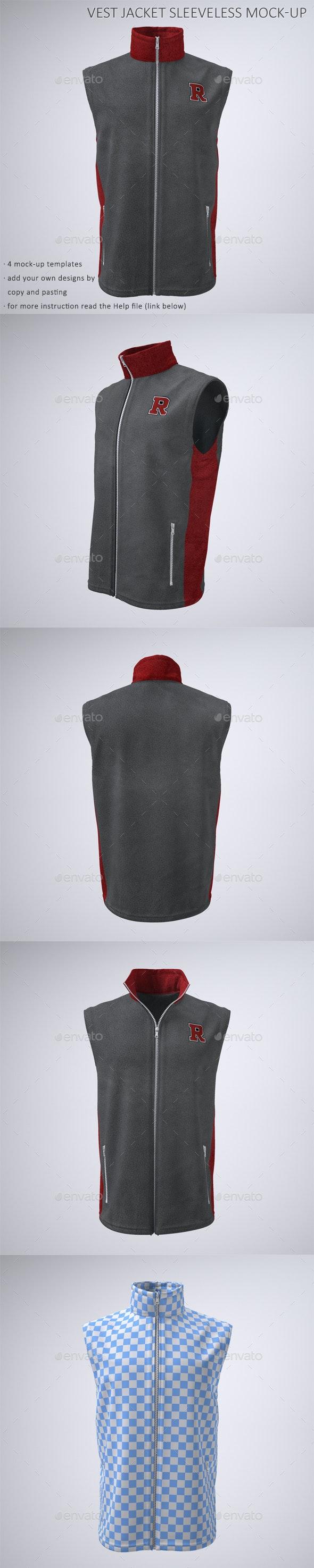 Vest or Sleeveless Jacket Mock-Up - Apparel Product Mock-Ups