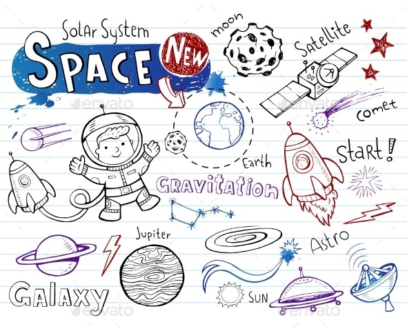 Space Doodles Collection - Miscellaneous Vectors