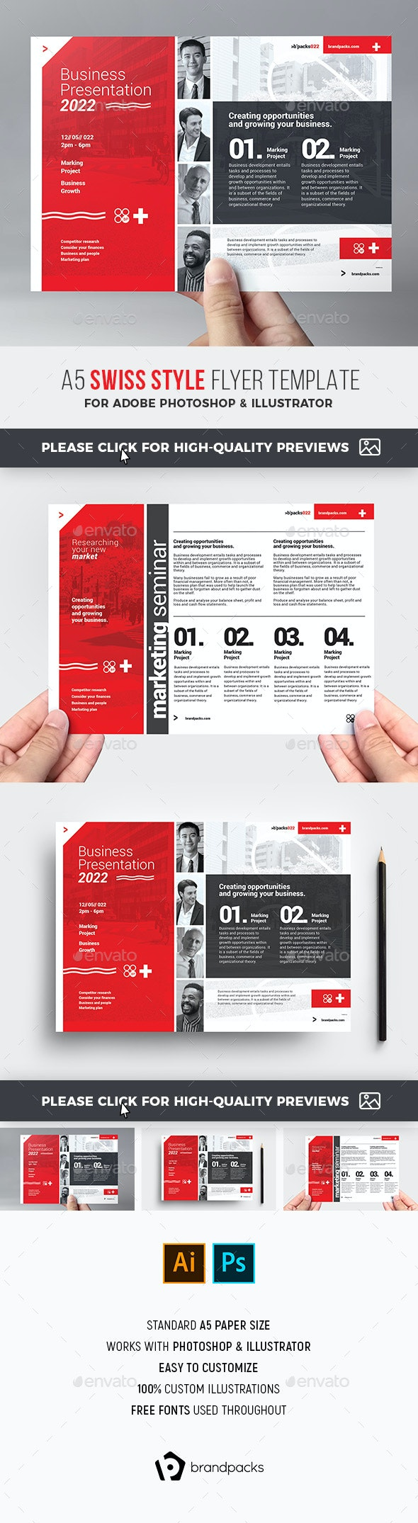 Swiss Style Corporate Flyer Template - Corporate Flyers