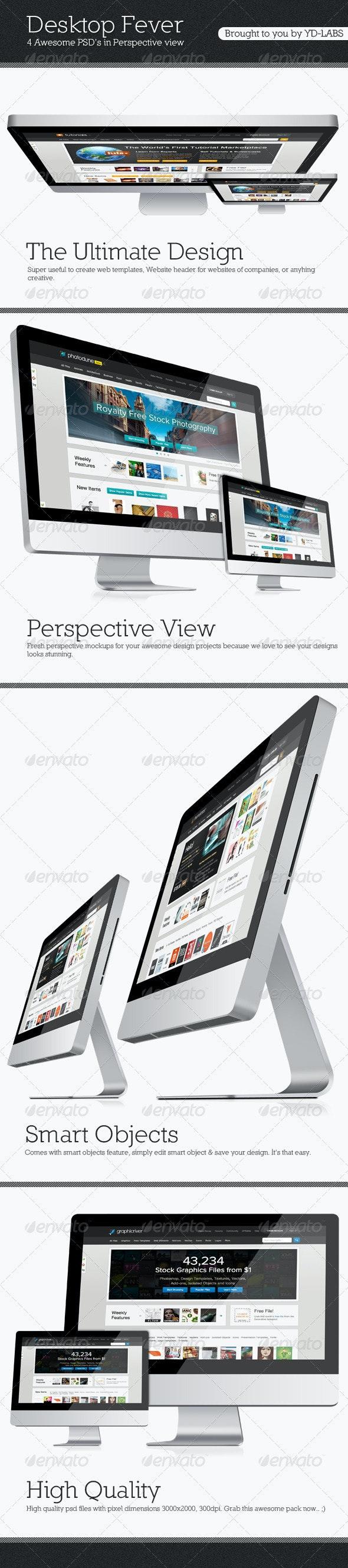 Desktop Fever Mockup Pack - Monitors Displays