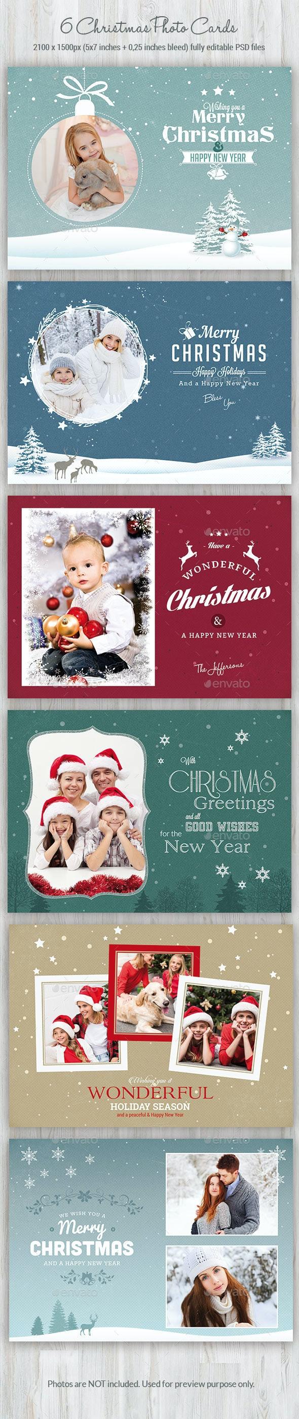 Christmas Photo Cards - Cards & Invites Print Templates