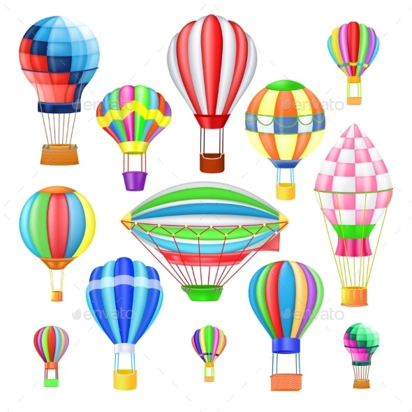 Air Balloon Vectors - Man-made Objects Objects