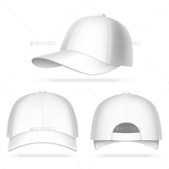 White Baseball Cap - Man-made Objects Objects