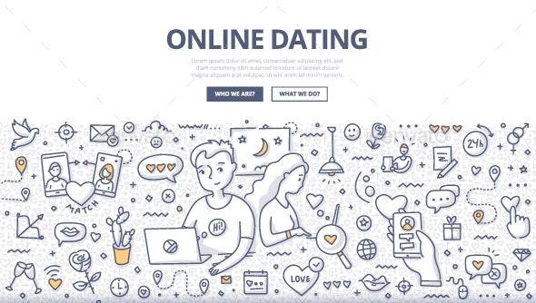 Online Dating Doodle Concept - Miscellaneous Conceptual