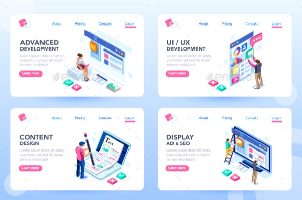 Webdesign Web Page Templates - Miscellaneous Conceptual