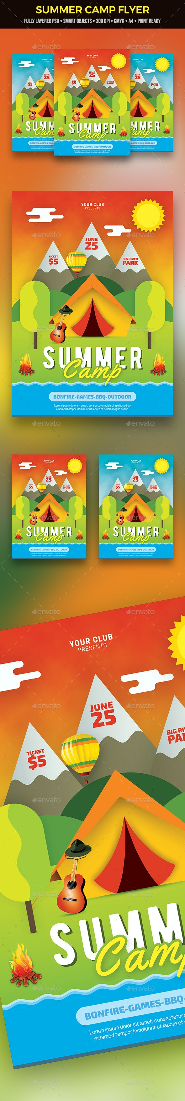 Summer Camp Flyer - Clubs & Parties Events