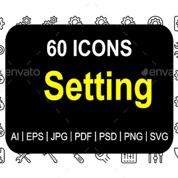 Settings Line Icons