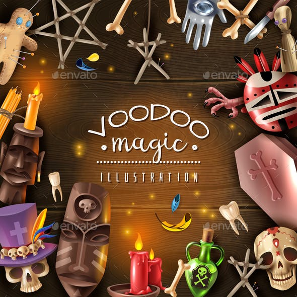 Voodoo Magic Realistic Frame